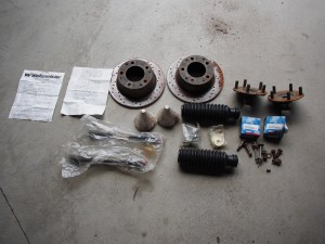 Front end stuff - wheel bearings, axles, steering boots, tie rods