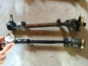 New and old tie rods side by each