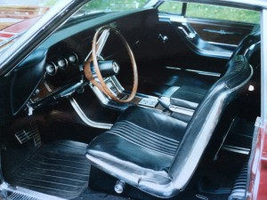 Interior of Sterling's 1964 Ford Thunderbird
